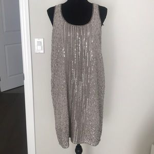 Dresses & Skirts - Silver sequence slip dress